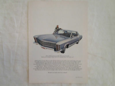 1965 Buick Riviera Original Ad from New Yorker January 1965