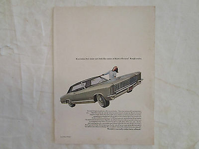 1965 Buick Riviera Original Ad from New Yorker June 1965