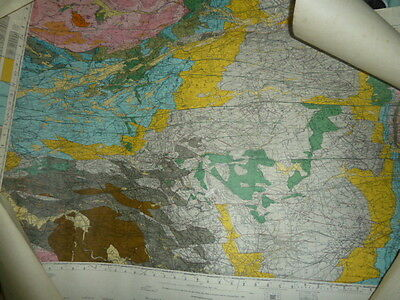 1939 Geological Survey OS map 1939 Central Scotland coloured 1=1