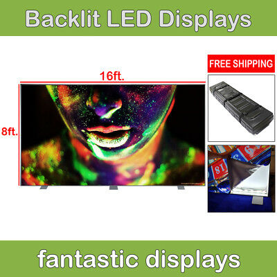 REAL 16ft Light Box Backdrop LED Backlit Trade Show Pop Up Display Booth