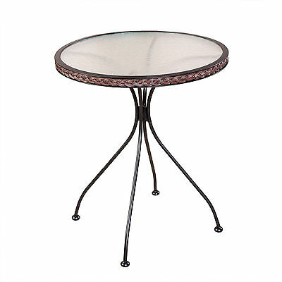 Bistro table round Glass Garden with Rattan plait approx. 63 cm Side