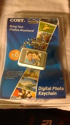 Coby Dp151 Digital Photo Keychain Holds Up To 60 Photos, New