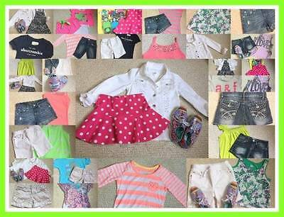 Girls Spring/summer Size 10, 10-12 Lot*abercrombie*justice*gap*shorts*tops*shoes