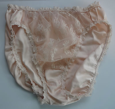 VTG Victoria's Secret Polyester Satin & Lace Panties Crown Label Large