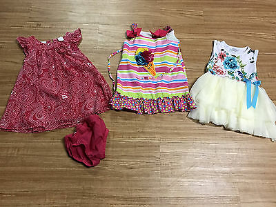 Lot of 3 CUTE toddler girl dresses - spring/summer/Easter - Size 2T - koala Kids