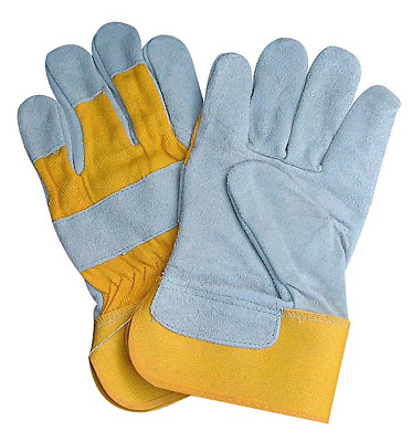 Canadian Leather Rigger Work Gloves - Heavy Duty - Red / Yellow