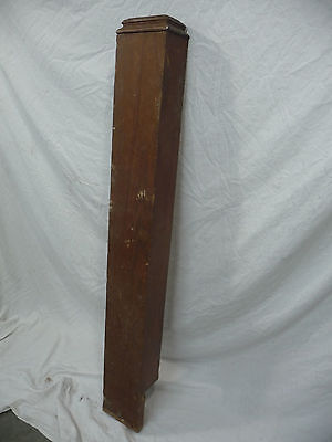 Antique Victorian Rectangular Newel Post - Circa 1898 Architectural Salvage