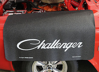 Dodge Challenger Script Logo Fender Gripper Black Cushion Fender Cover: FG2217