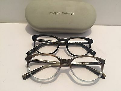Lot Of 2 Pair Of Walby Parker Eyeglass Frames And Case