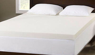 "New Memory Foam Mattress Topper, Sizes & Depths 1"" 2"" 3"""