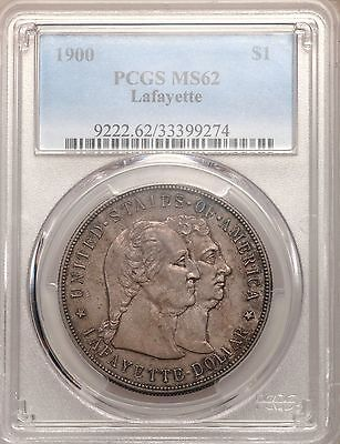 1900 Lafayette Silver Dollar PCGS MS62 Toned Commemorative Commem Uncirculated
