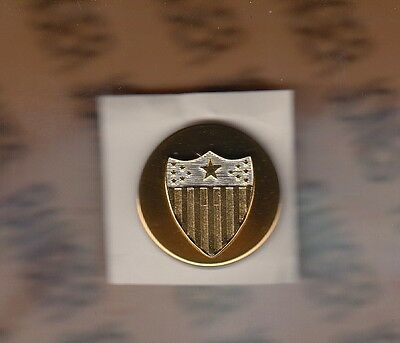 US Army AG Adjutant General Corps Branch Enlisted dress metal badge single