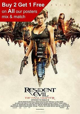 Resident Evil The Final Chapter Movie Poster Print A5 A4 A3 A2 A1