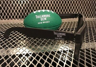 TULLAMORE DEW IRISH WHISKEY ~ New Promo SUNGLASSES & Football Rugby Stress Ball