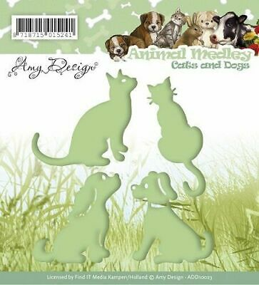 Amy Design Cats and Dogs Animal Medley Cutting Dies ADD10023