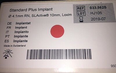 Straumann Plus Implant 4.1 RN SLActive 10mm, Loxim Exp 2019!!