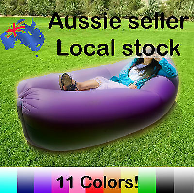 Fast Inflatable Air Sofa Lounge Sleeping Camping Outdoors Soft Bed Air Hammock