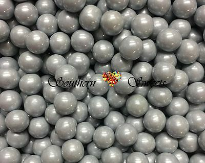 907G Silver Sixlets Pearly Candy Balls Shiny Silver Lollies Pearly Gluten Free