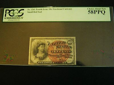 1863 10 Cents 4th Issue Fractional Currency Fr. 1261