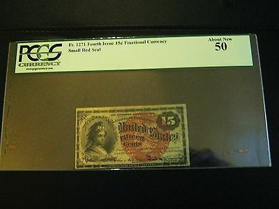 U.s. 1863 15 Cents Fractional Note Fr#1271 4Th Issue