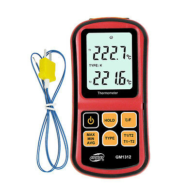 Digital Thermometer Thermocouple Sensor LCD Display 6-Type J, K, T, E, N, R