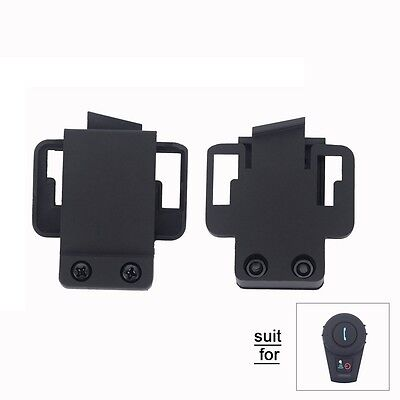 2x Mount Clip for Motorcycle BT Bluetooth Helmet Headset FDC-VB 500M Intercom FM