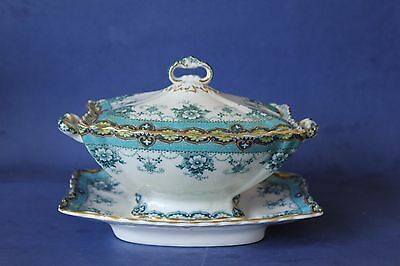 Antique Ford & Sons Gravy, Sauce  tureen & underplate.