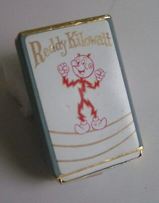 Reddy Kilowatt One Deck Playing Cards Velvet Box Collectible Utility Electric