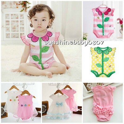1pc Toddler Baby girl Kids Clothes summer cotton bodysuit baby jumpers Hot