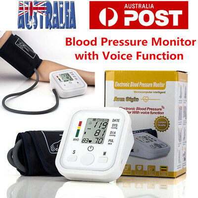 Digital Blood Pressure Monitor Automatic LCD Heart Meter Upper Pulse Arm Cuff AU
