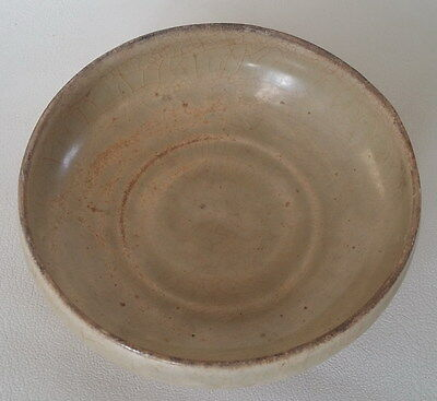 Antique Vietnameses Celadon Crackle Glazed Bowl 14-15th