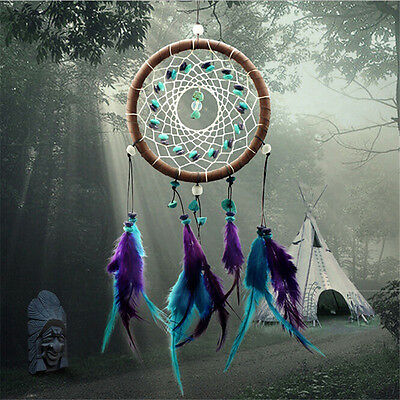 Turquoise Dream Catcher Dreamcatcher Feathers for Home Wall Decor/Car Pendant