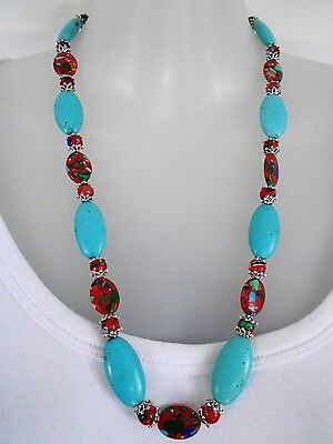 SALE Turquoise and Riverstone Necklace was $32 NOW $22
