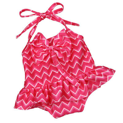 Cute Rose Red Lacing Swimsuit w/Bowknot for 18'' American Girl Journey Dolls