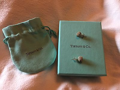 Tiffany Knot Earrings - Worn Once In Original Box With Ribbon