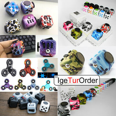 2017 Magic Fidget Cube Hand Finger Spinner Adults Kids Stress Relief ADHD Toy