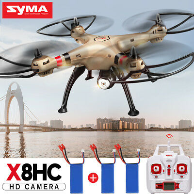 Syma X8HC Golden Drone HD Camera 4CH 6 Axis Hovering Fly 360° Rolling Helicopter