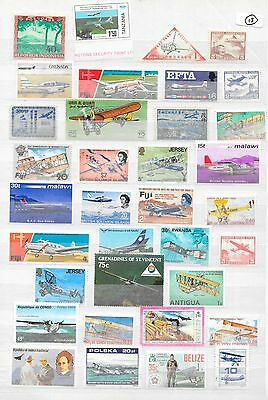 Large Collection of Mint World Stamps with Airplanes