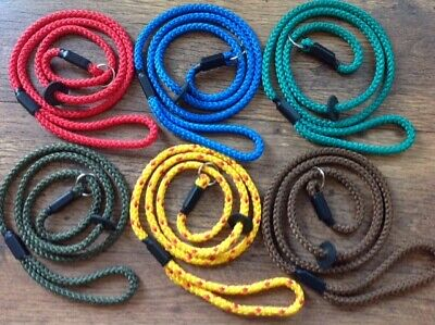 Handmade Braid Gun Dog/Pet Slip Lead New 8  Mm (Soft But Strong) Lots Of Colours