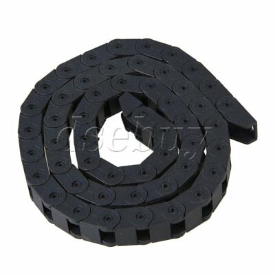 1M Length Bridge Type Plastic Cable Drag Chain Wire Carrier 10 x 10mm R28
