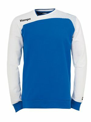 Kempa Kids Emotion Training Sports Long Sleeve Top Sweatshirt Junior Blue White