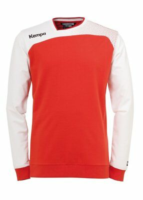 Kempa Kids Emotion Training Sports Long Sleeve Top Sweatshirt Junior Red White