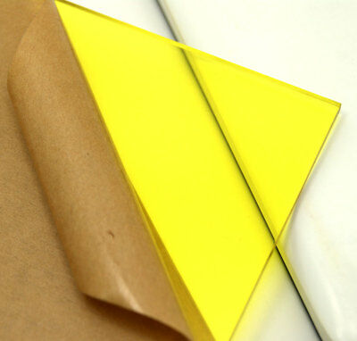 "Cell Cast Acrylic Plexiglass Light Yellow Plastic Sheet 1/8"" X 8"" X 12"" AK260"