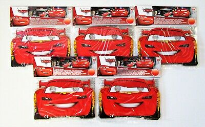 Pack for 30 Disney Cars Party Face Masks - Lightening Mcqueen - Piston Cup