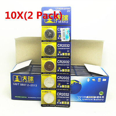 10 X (2 Pack) CR2032 DL2032 LM2032 Battery Cell Coin Button For Watch toy Remote