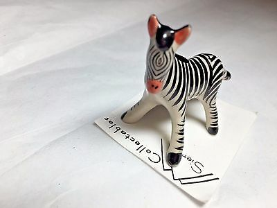 "Sierra Collection Zebra Miniature Standing Porcelain 2 1/4"" Figurine ExcVintage"