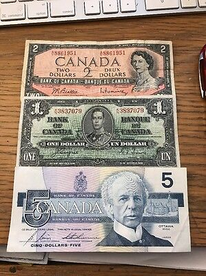 Canadian Bank Note Lot See Pics