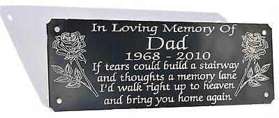 Personalised Bench Memorial Plaque Plate Grave Maker Tribute