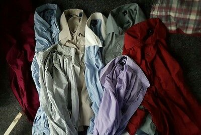 Lot of 8 Mens long sleeved dress shirts XXL (18 neck)