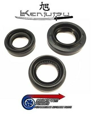 Kenjutsu Front Diff Transmission Sump Oil Seals - For R33 GTR Skyline RB26DETT